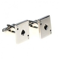 Card Aces Cufflink 2 Pairs Free Shipping Crazy Promotion fashion gift