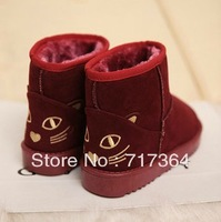 Free shipping 2013 cat autumn and winter low thermal fleece snow boots