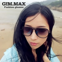 Free shipping White metal gimmax reflective large sunglasses male Women gradient color sunglasses vintage sunglasses
