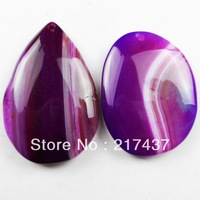 L0242 Free Shopping Beautiful Romantic Fashion Natural Onyx Agate pendant bead 2pcs/lot