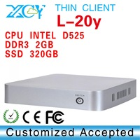 XCY L-20Y Touchscreen computer micro pc ultra mini pc 2G RAM 320gb hdd INTEL D525 Atom Dual-core 1.8GHz