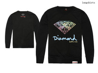 Diamond Supply Co  autumn men clothes and loose fitting long sleeved T-shirt