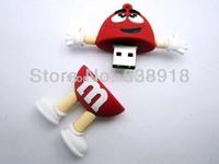 4GB 8GB 16GB 32GB Genuine chocolate beans USB 2.0 Flash Memory Stick Pen Drive Thumbdrive U-disk Card  Mobile Storage Devices Re