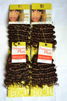 Free Shipping synthetic braiding hair synthetic hair weave Premium plus deep wave 33# 5Pcs Factory On Sale