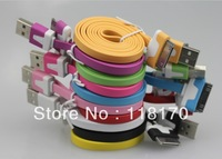 iFor iphone4s line ,Noodle Line Data Line Charging Cable for iPod iphone4/4s colored pasta line