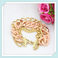 Min.order $10 Acrylic chain bracelet multilayer chain & link bracelets for women