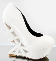 high heels shoes princess women's 14cm platform wedges single shoes white wedding shoes