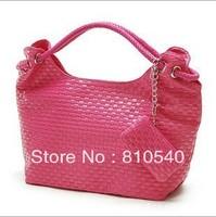 2013 Korean summer knitting fashion single shoulder bag PU handbag women bags wholesale