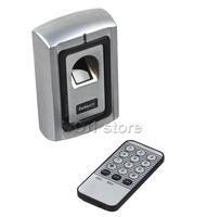 Metal Case Fingerprint Door Lock Access Control Controller Kit + Remote Control Free Shipping