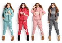 Women's Tracksuits Sport Suits Wear Casual Set fleece Thickening Hooded Sweatshirt Three Piece Set