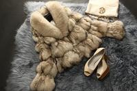 Winter New Luxury Fox Fur  Coat  Genuine Fox Fur Outerwear Womens Winter  Warm JacketsTP9043