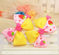 {Min.Order $10}48pcs/Lot 2013 New Kids/Girl/Princess/Baby Spot Printing Ribbon Hair Clip/Hair Accessories Color Mix BB10019