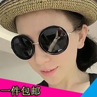 A8 fashion vintage big circle sun glasses sunglasses star style big box prince's mirror