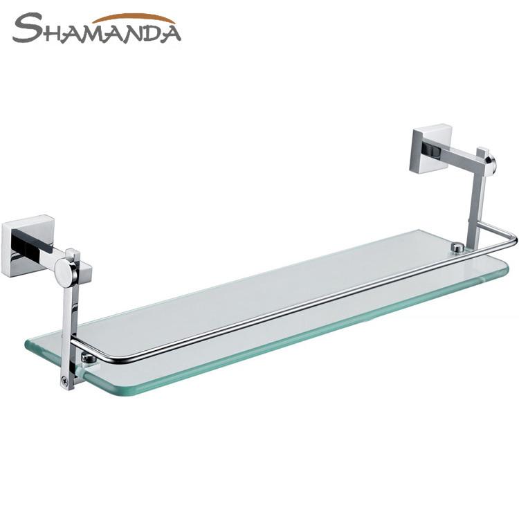 2014 Nova Frete Grátis única prateleira do banheiro , sólida feita Base + vidro, prateleira armário, banheiro produtos , acessórios do banheiro - 86011(China (Mainland))