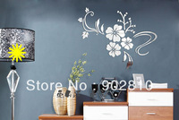 [listed in stock]-78.5x62.4cm(31x25in) 3D flower tree plant mirror wall decal TV living room Background decoration