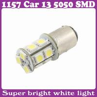 2 pcs/Lot_1157 Car 13 5050 SMD LED Turn Tail Light Bulbs White