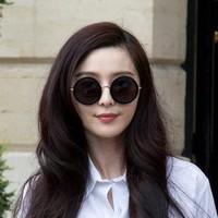 Love vintage fashion big circle sun glasses sunglasses big box prince's mirror