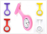 10pcs/lot Free shipping ,Nurse Brooch Pin Wear on Clothes Silicone Round nurse pocket watch