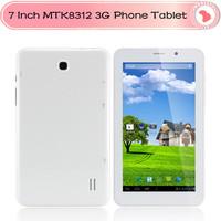 "7""  MTK8312 Dual Core 3G Phone Tablet Capacitive Screen Android 4.2  Dual Sim Slot +GPS +Dual Camera+ Bluetotoh Tablet pc"