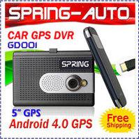 "Free Shipping 5"" Captaitive screen Android 4.0 Car GPS Navigation+ Dual camera DVR Recorder Black box + PAD Multimedia HDMI"