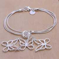 Fashion jewelry silveriness 925 jewelry small accessories fashion bracelet