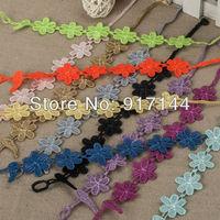 Wholesales!10 Colors Sakura Shape Italy Lace Bracelets Jewelry 50PCS/LOT Free Shipping