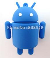4GB 8GB 16GB 32GB Genuine Android RobotUSB 2.0 Flash Memory Stick Pen Drive Thumbdrive U-disk Card  Mobile Storage Devices DBlue