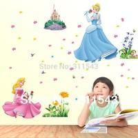 kids room wall sticker , Princess Bobbi child stickers on the wall decor, cartoom vinyl 3d Wallpaper mural k030 Free shipment