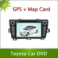 Free Shipping Free Map 8inch Touch Screen 2din Toyota Prius Right Driving 2009-2012 Car DVD GPS Player Stereo Radio Bluetooth