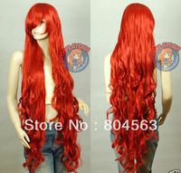 J136 Hot Sale new black long straight cosplay full wig 100cm