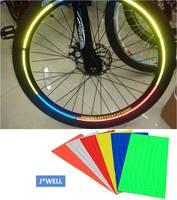 6pcs/lot Fluorescent MTB Bike Bicycle Motorcycle Cycling Reflective Wheel Rim Sticker Tape Decal Safe Night Decoration Wholesale