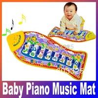Environmental Educational Smart Funny Kids' Toys Music Piano Fish Animal Design Touch Kick Play Game Mat Crawling Blanket carpet
