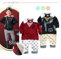 Free Shipping Children clothing kid's star printing with detachable colar Baby Romper