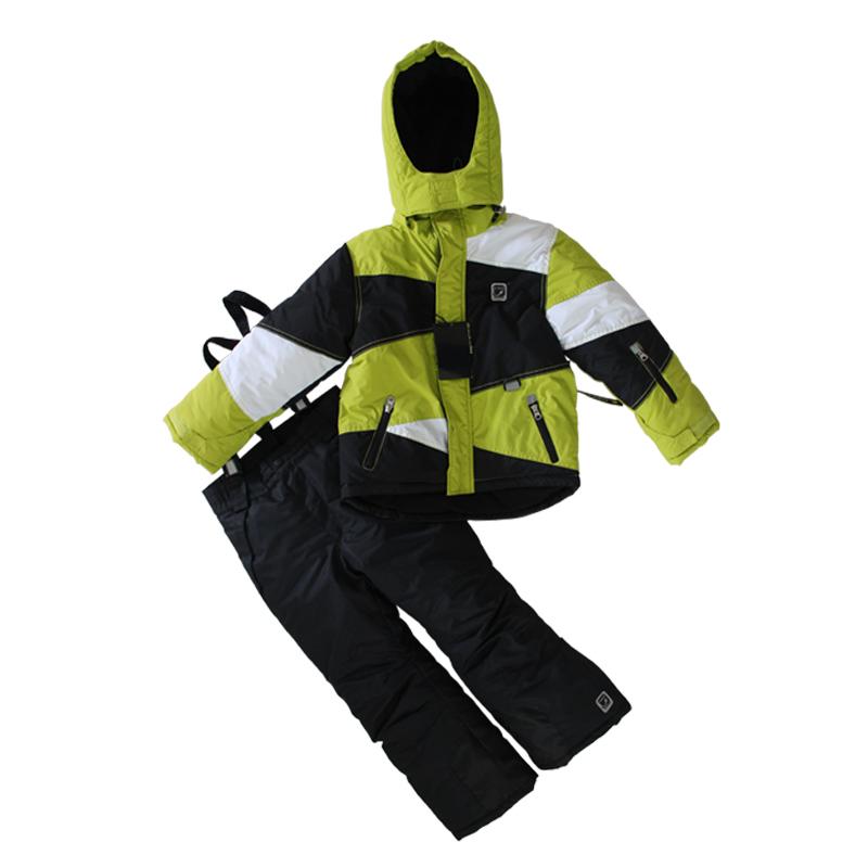 Russe.-20 à-30 hiver, les enfants costumes de ski de ski boy's jackets+pant hiver, les enfants habit de neige vêtements de plein air pour enfants d'hiver de ski ensembles