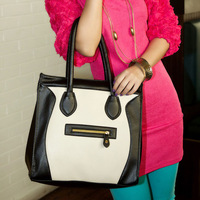 Bag trend 2013 autumn color block one shoulder smiley women's handbag cross-body bag  GS2050