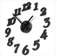 Free shipping Self Adhesive DIY Wall clock Modern Creative clock  for Home Decorations