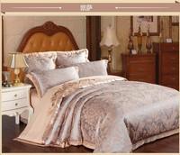2014 Luxury Jacquard Satin comforter cover king queen size 4/6pc Silk bedclothes duvet covers bed linen bedding set home textile