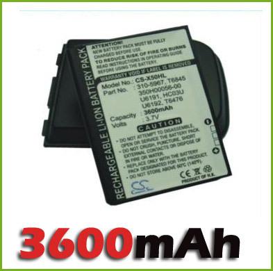 PDA / Pocket PC Fit DELL Axim X50 X50V X51 X51V battery (3600mAh, Ext.) free shipping(China (Mainland))