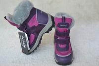 Reima lassie child warm and waterproof boots children slip-resistant purplish red snow boots female boots child