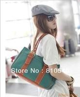 Wholesale fashion cute canvas stripe ocean texture single shoulder bag