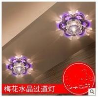 Modern romantic led crystal aisle lights entranceway ceiling light