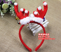 25g Christmas staghorns sika deer belt bell antlers headband buckle christmas reindeer hair bands