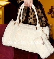 2013 Autumn And Winter Faux Handbag Women Brand Day Clutch Women Handbag 2 pcs Free Shipping