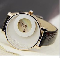 free shipping,Goddess gift Enmex pure beautiful swan lake female table quicksand diamond shell surface only beautiful womenwatch
