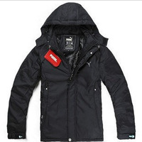 Free shipping 2013 hot sale Winter new men outdoor sports coat fashion thickening Cotton-padded clothes jacket