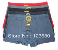 Free Shipping boxers for men fashion Bamboo Underwear trunk shorts Underpants Breathable