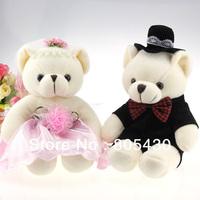 free shipping, lovers teddy  bear doll ,  couples bear ,wedding gift & birthday gift