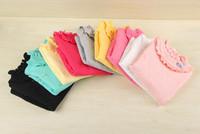 Children's clothing girls cotton sweater collar three florets bottoming sweater X3-1222