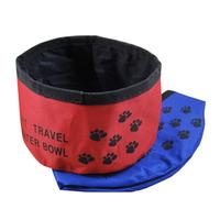Folding oxford fabric pet bowl pet portable dog bowl cloth water bowl pet water pet supplies
