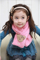Free Shipping children scarf female child thermal scarf plush bear baby winter female child scarf